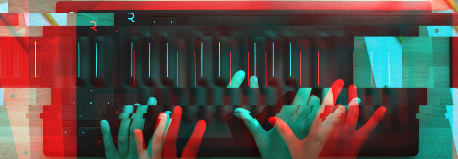 ROLI's Seaboard RISE 25, a well-known MPE-enabled controller