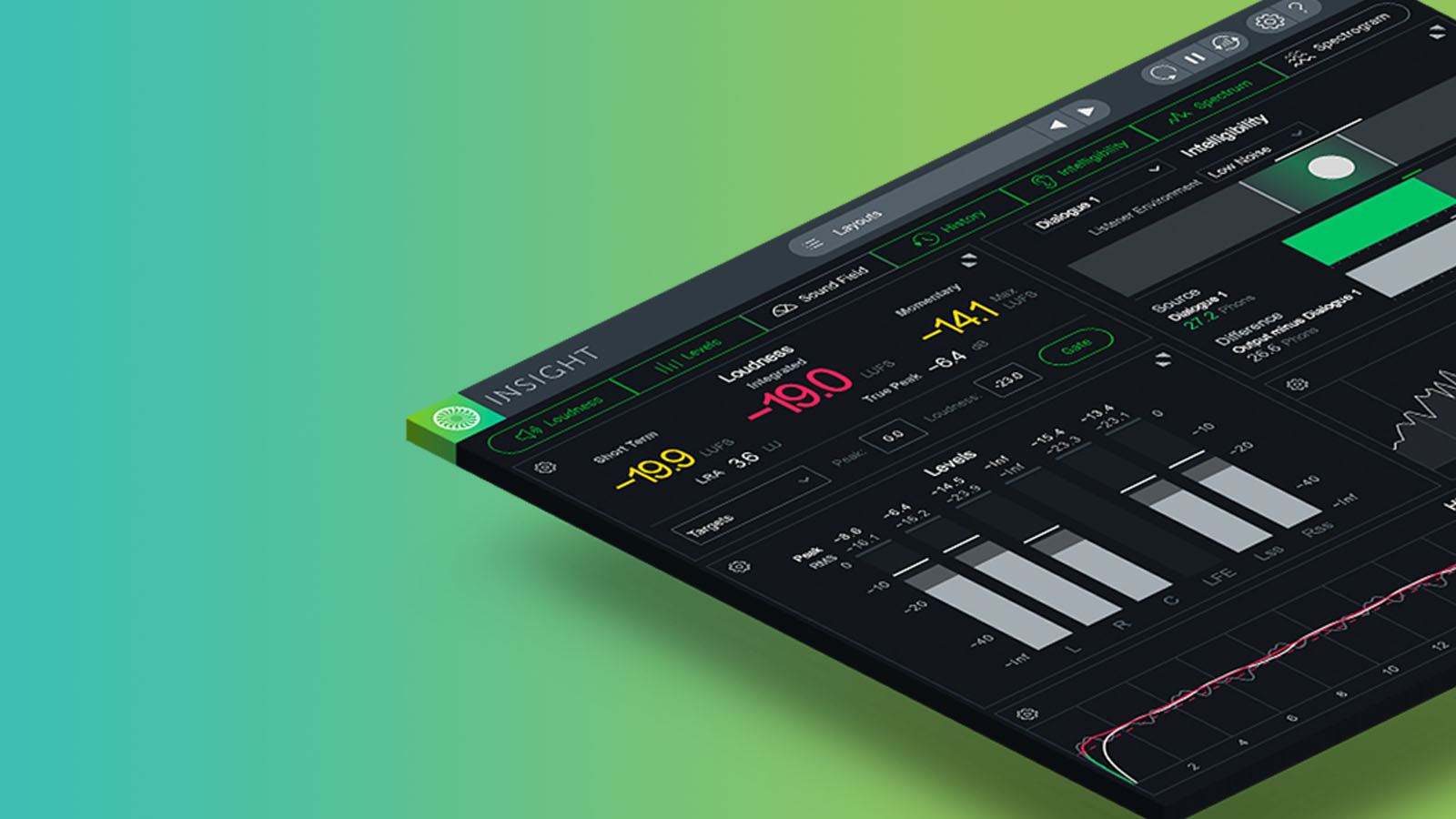 Insight 2 lets you track your levels throughout the entire mixing process.