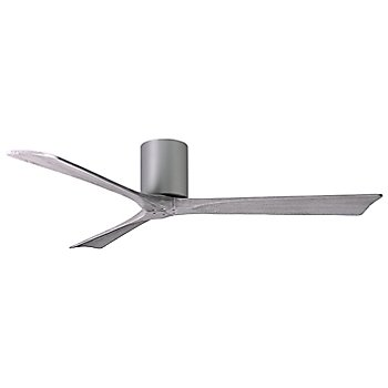 60 Inch / Brushed Nickel finish with Barn Wood fan blades finish