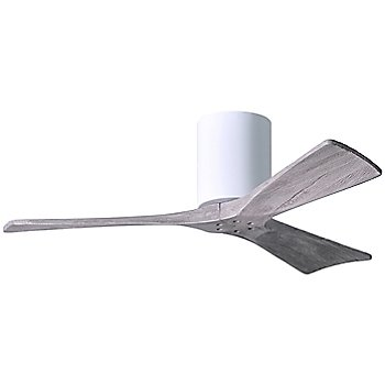 42 Inch / Gloss White finish with Barn Wood fan blades finish