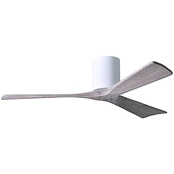 52 Inch / Gloss White finish with Barn Wood fan blades finish