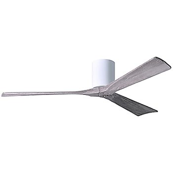 60 Inch / Gloss White finish with Barn Wood fan blades finish