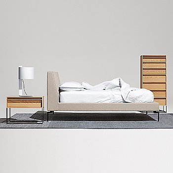 Rule Nightstand with Note Table Lamp and The New Standard Bed