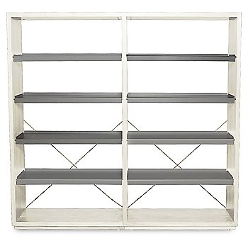 D3 Bookcase with optional Add-On Unit, Ash/Grey