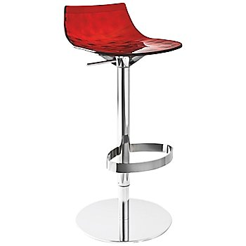 Shown in Transparent Red, Chromed finish