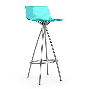 Shown in Transparent, Satin Finished, Barstool