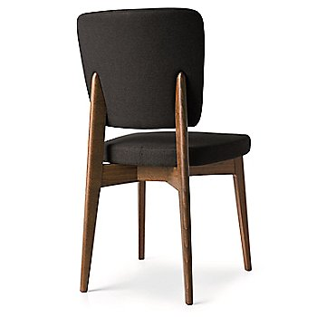 Walnut Frame/Taupe Seat back view