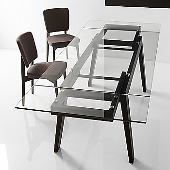 Graphite Frame/Smoke Gray Seat pictured in use with the Maestro Extending Table