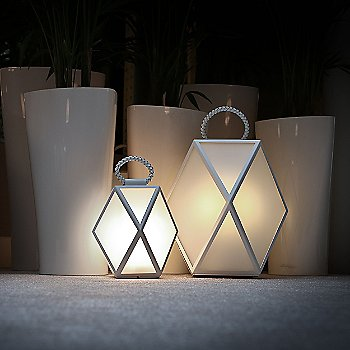 Shown lit in White Pearl finish, Small and Large sizes
