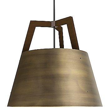 Large size / Brushed Brass and Walnut finish