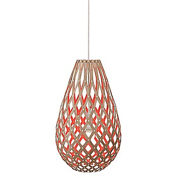 Shown lit in Natural/Red finish
