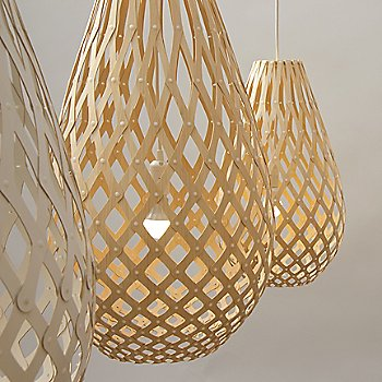 Shown lit in Natural Bamboo finish