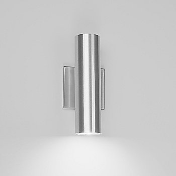 Shown in Brushed Aluminum finish, One-way light