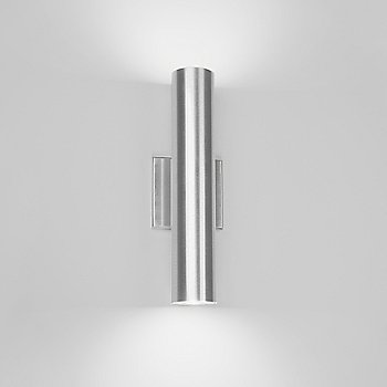 Shown in Brushed Aluminum finish, Two-way light