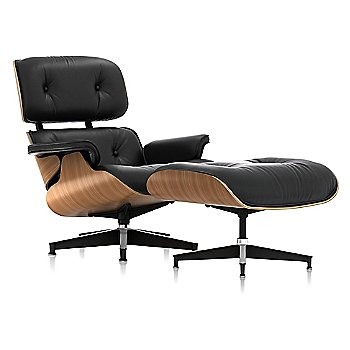 Shown in 2100 Leather Black, Walnut finish