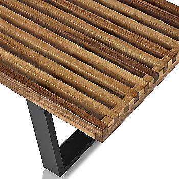 Shown in Walnut finish with Ebonized Wood base finish