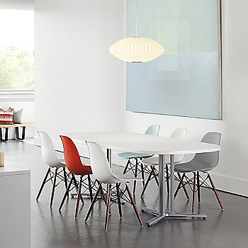 Eames Molded Plastic Side Chair with Dowel-Leg Bases collection