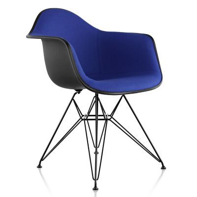 Herman Miller Eames Molded Plastic Armchair With Wire Baseand Upholstered |  YLiving.com