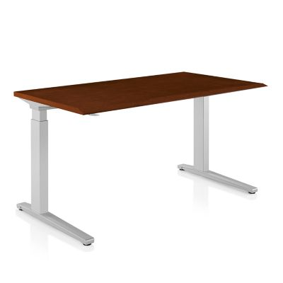 Herman Miller Renew Sit To Stand Deskand C Foot   Veneer Top | YLiving.com