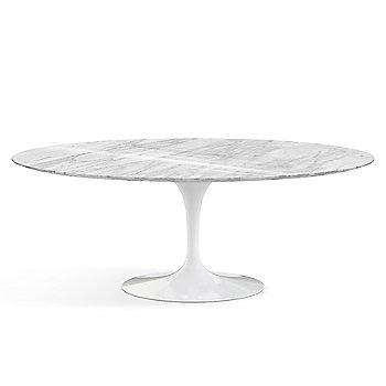 Shown in Calacatta Marble Satin top, White base