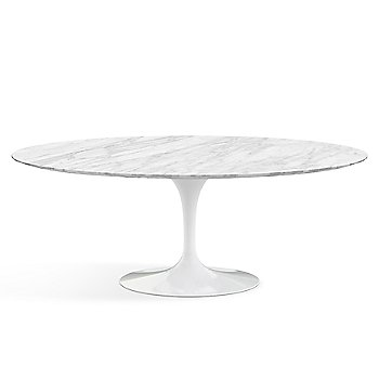 Shown in Calacatta Marble Polished top, White base