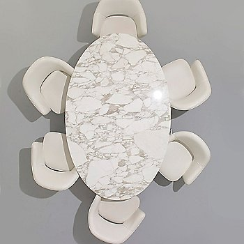 Shown in Calacatta Marble Polished top view