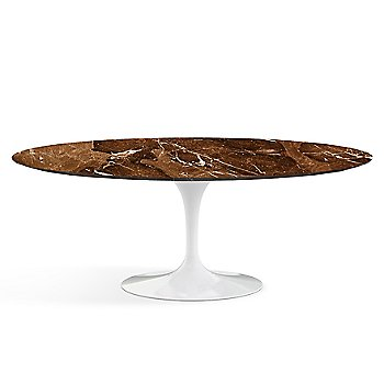 Shown in Espresso Brown Satin Coated Marble finish with White base finish, 78-Inch