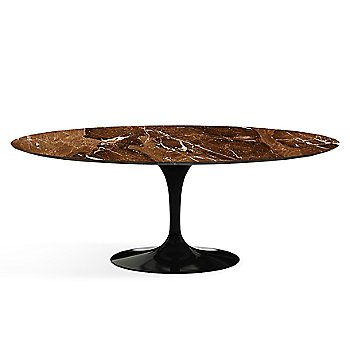 Shown in Espresso Brown Satin Coated Marble finish with Black base finish, 78-Inch