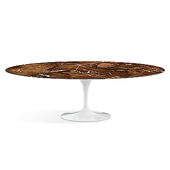 Shown in Espresso Brown Satin Coated Marble finish with White base finish, 96-Inch