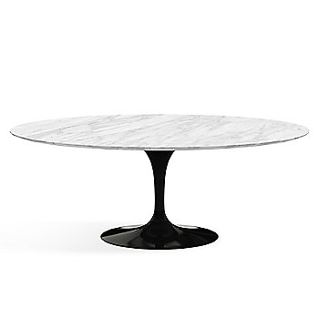 Shown in Carrera White-Grey Natural Marble finish with Black base finish, 78-Inch