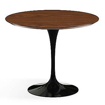Shown in Light Walnut Veneer Top with Black Base, 36 Inch