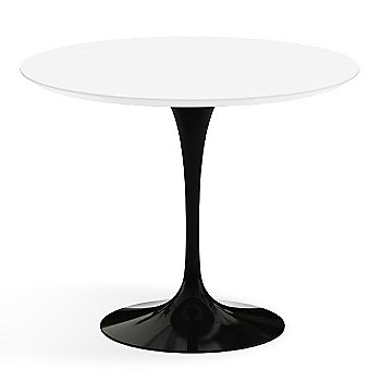 Shown in White Laminate Top with Black Base, 36 Inch