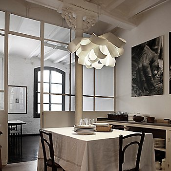 Ivory White, in use over dining table