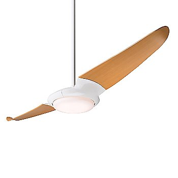 Shown in Gloss White with Maple blades, LED Light