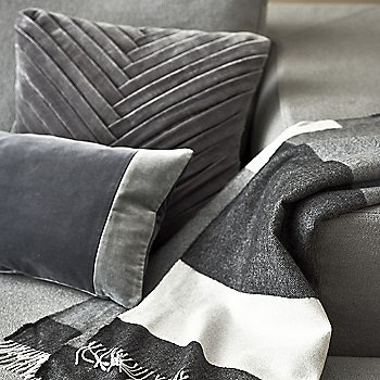 Leaflet Pillow with Lines Throw and Puzzle Pillow