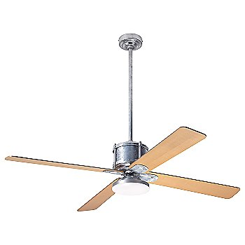 Maple fan blade finish with Galvanized fan body finish / LED
