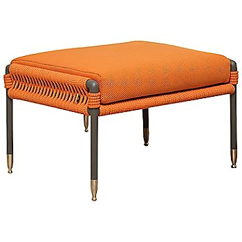 Shown in Orange / Anthracite frame / Brass legs