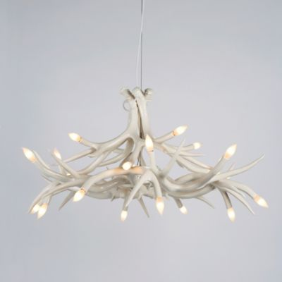 roll and hill superordinate antler chandelier 12 antlers