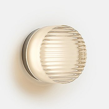 Shown in Frosted in use as wall sconce