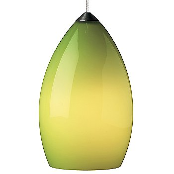 Shown in Chartreuse shade with Satin Nickel finish