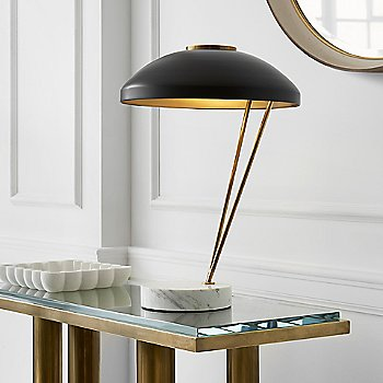 Shown in Antique Burnished Brass with White Marble