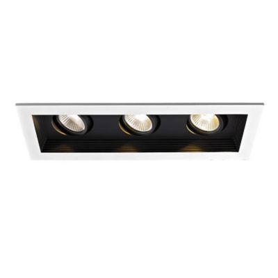 wac lighting mini led 3 light recessed multiple spot light kit