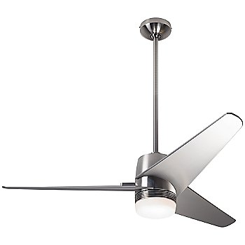 Bright Nickel finish with Nickel blades, LED light