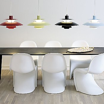 Shown in Chili Red, Wasabi Green, Olive Black and Mint Blue (left to right)