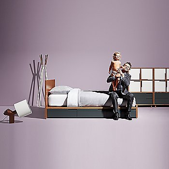 Splash Coat Rack with Rook Table Lamp, Modu-licious Bed and Modu-licious #6
