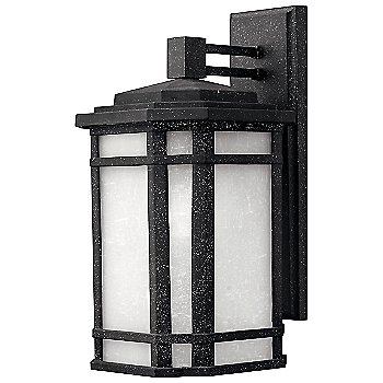 Shown in Vintage Black with White Linen shade, Medium