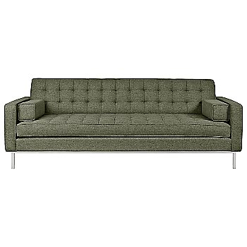 Shown in Parliament Moss Fabric with Stainless Steel leg finish