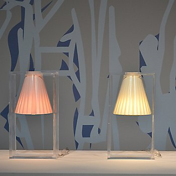 Shown in Pink, Beige and Azure (left to right)