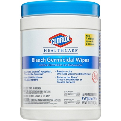 Clorox Healthcare Bleach Germicidal Wipes Unscented 6 X 5 White Pack Of 150 By Office Depot OfficeMax