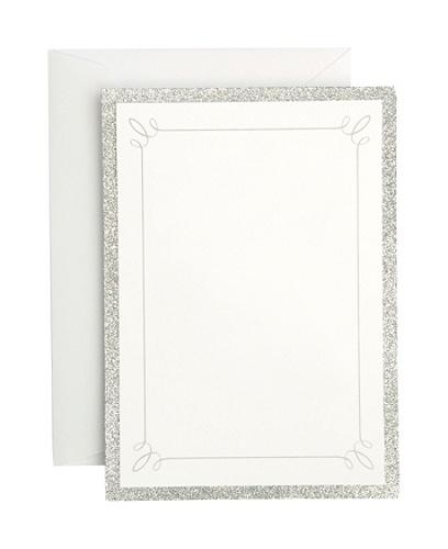 gartner studios formal invitations and envelopes silver glitter pack of 25 by office depot officemax - Officemax Wedding Invitations